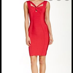 Wow Couture Knotted Bandage Midi Dress ❤️
